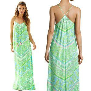 Lilly Pulitzer Philomena Maxi dress green sheen Xs